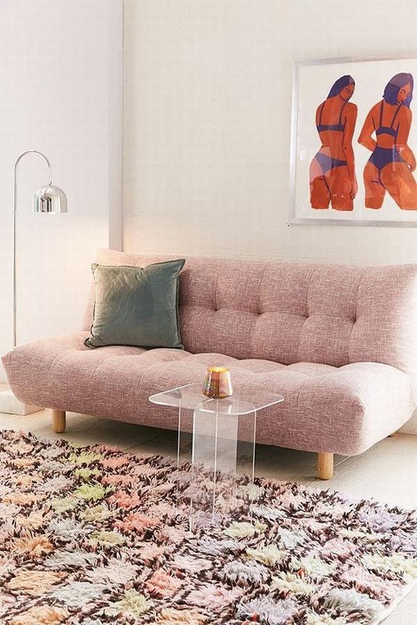 一字型沙發適合小戶型  圖片源自domino. com