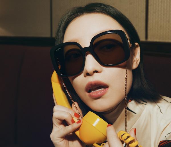 古驰推出2021秋冬眼镜广告形象大片