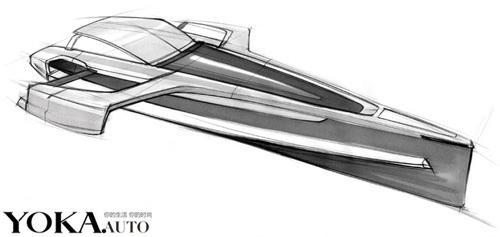 奥迪概念快艇的设计手绘图