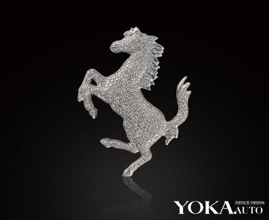 法拉利限量版钻石别针   ferrari别针设计十分典雅,使用了18k高清图片