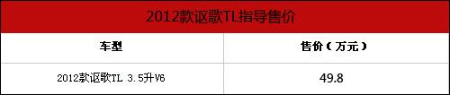 售价49.8万元起 2012款讴歌TL正式上市