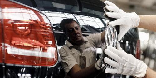 大众汽车透明工厂生产线高清图片