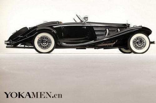 1936年款梅赛德斯-奔驰冯-克里540K特别版双座敞篷跑车车车身正侧照