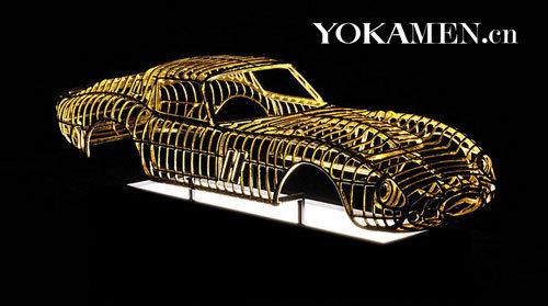 不朽的纪念 黄金打造兰博基尼muira模型高清图片