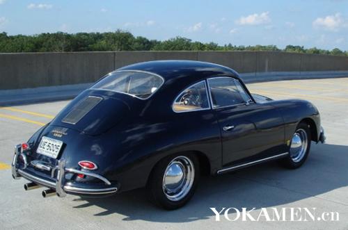 1957款保时捷356a车尾照