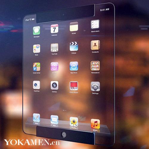 透明成趋势 设计师曝光透明iPad