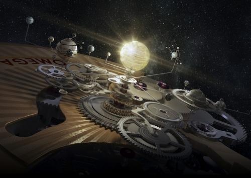 欧米茄同轴机芯3D宣传片太空场景