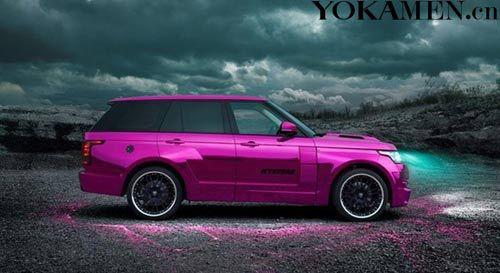 紫色汽车矢量图