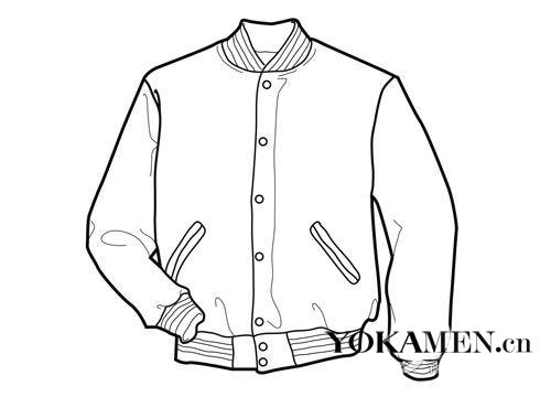夹克衫袖子结构图片