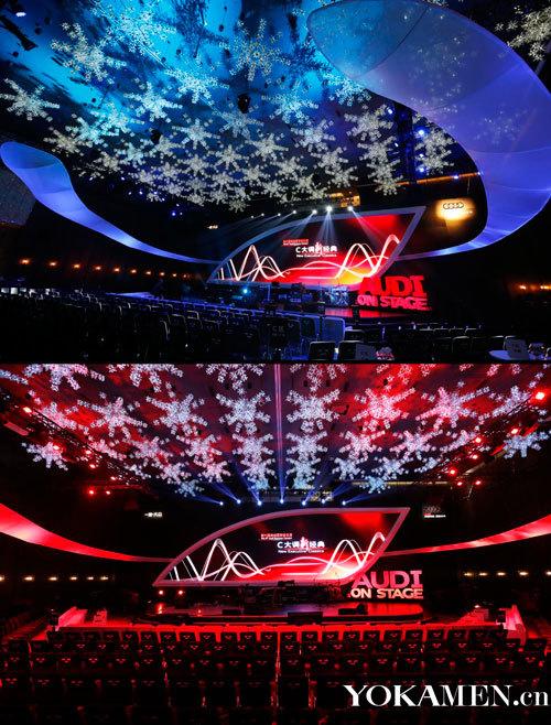 音乐会现场以炫酷视觉效果营造优雅格调
