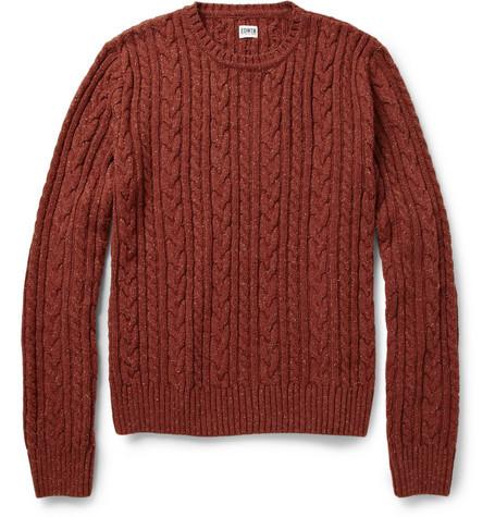 经典条纹麻花编织 型男秋冬毛衣的4种选择