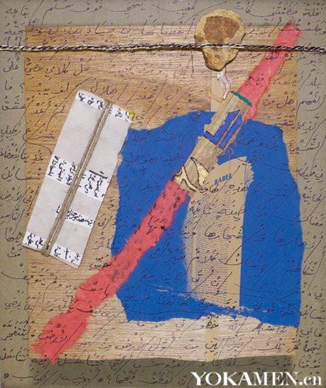 在民生美术馆展出的阿多尼斯作品《无题-2》