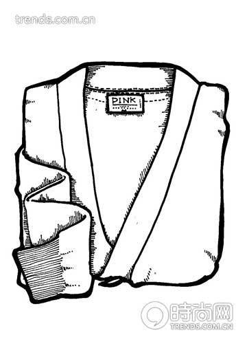 搭配翻领衬衫可以有两种选择:针织开衫或圆领针织衫.