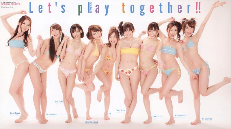 日本最强AV女优组团 性感写真集合宣传唱片(3