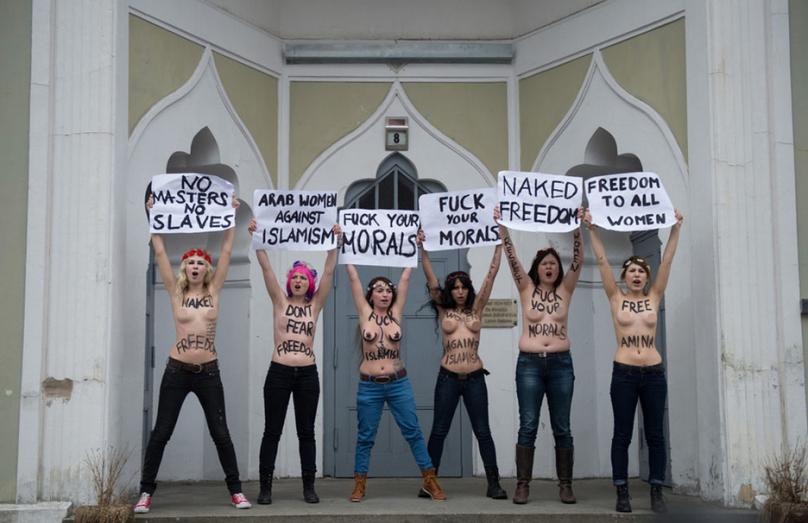 乌女权组织Femen的示威就是裸 性情