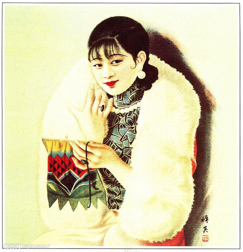大尺度民国老上海艳情女性海报(11)