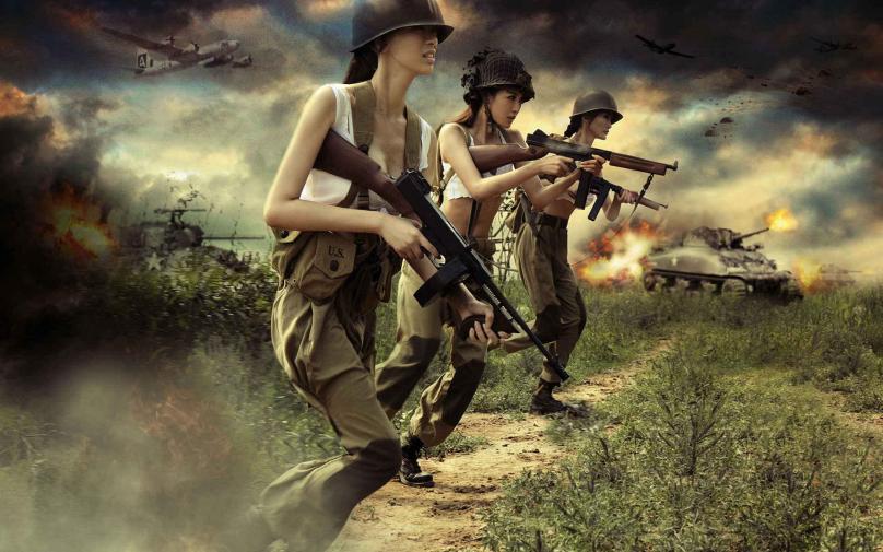 女兵的风采(三八妇女节特辑) - 深海情深 -