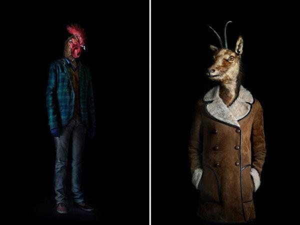 西班牙摄影师Miguel Vallinas多才多艺,他最近创作了一系列相当非凡、令人震惊的作品:高端时装摄影和动物肖像混搭。他称这一系列的作品为第二皮肤(Second Skins),把形形色色的生有羽毛、皮毛或蹄子之类的动物穿上时下最时髦的衣装。通过非常小心的适度的修整后,他的作品就能给人一种视错觉,似乎是这些动物摆好pose让摄影师拍出来的,而不是简单地把它们的头ps到某个人的身体上。 这组作品非常有意思,当然也非常独特、完美无瑕。而且这个系列的作品还不止这些,我们只是从中挑选了14张比较有特色的放在这