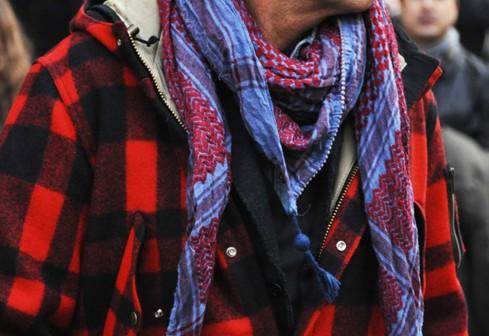 街拍客们怎样巧搭围巾 围巾Look温暖一冬图片
