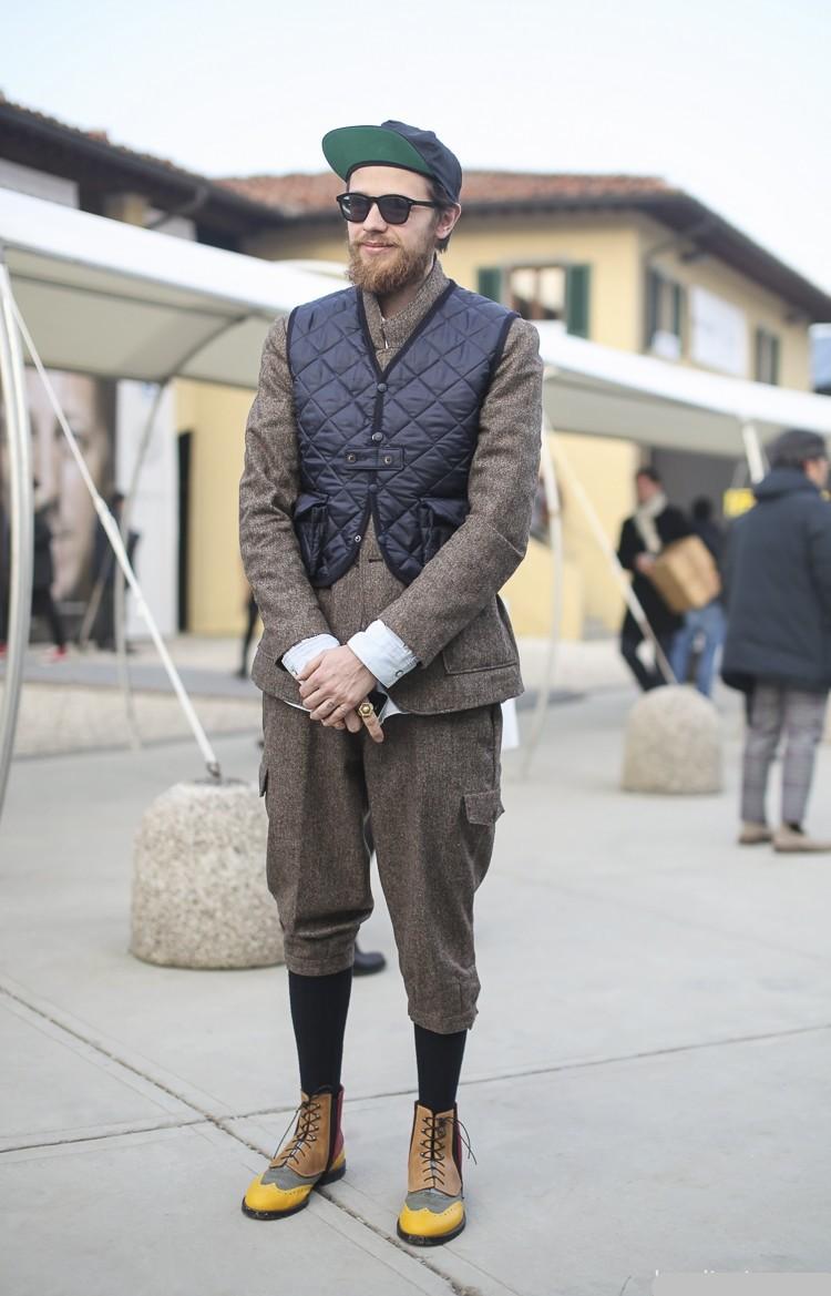 欧美型男西装外套街拍辑